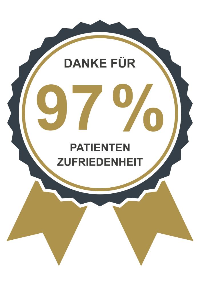 Siegl für 97% Patientenzufriedenheit der Augenklinik Dr. Hoffmann