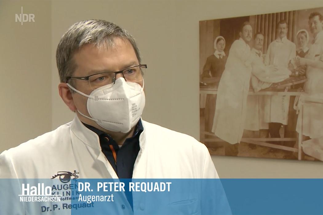 Facharzt für Augenheilkunde Dr. Peter Requadt im NDR bei Hallo Niedersachsen