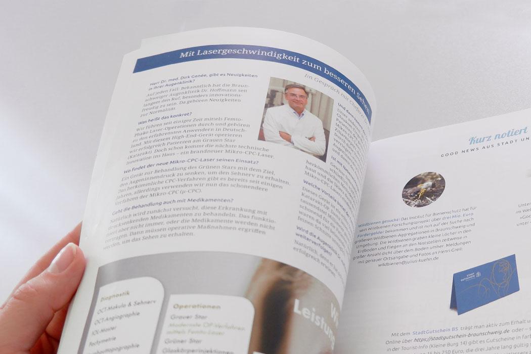 Magazin mit einem Interview mit Dr. med. Dirk Genee Facharzt der Augenheilkunde