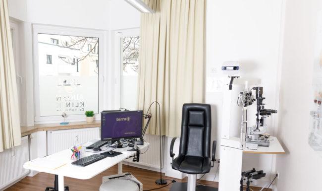 Praxis- und Untersuchungszimmer im Augenzentrum Bad Harzburg der Augenklinik Dr. Hoffmann